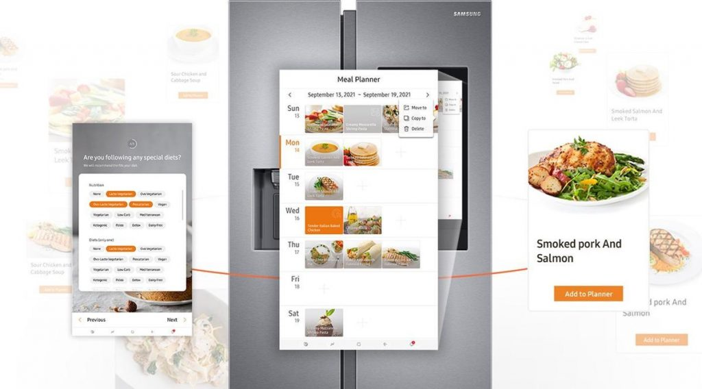 samsung family hub meal planner